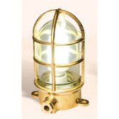 "Brass Oceanic Lamp 7.75"" x 5.25"" x 3.5"""