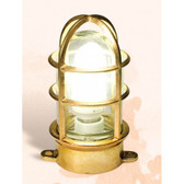 "Brass Oceanic Plug In Lamp 7.75"" x 5.25"" x 3.5"""