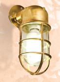 "Brass Oceanic Angle Lamp 10.25"" x 4.5"" x 4.5"""