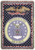 Decorative Nautical Beach Throw Blanket - U.S. Air Force (3-Layer)