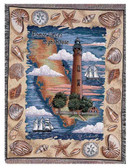 Decorative Nautical Beach Throw Blanket - Ponce Inlet, Florida