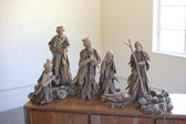 Driftwood Christmas Nativity Figures - Set of 6