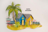Beach Bungalows Metal Wall Sculpture