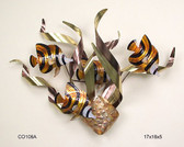 Banded Angelfish Mardi Gras Tropical Wall Sculpture