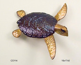 Looe Key Sea Turtle Copper Wall Sculpture