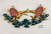 Sea Turtle Frolic Metal Wall Sculpture