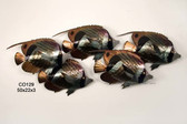 Striped Butterfly Fish School of 5 Stainless Steel Wall Sculpture