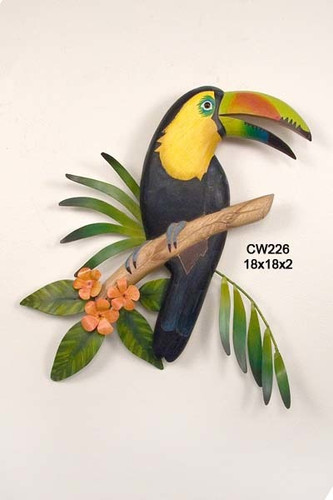 Toucan Wood And Metal Wall Sculpture