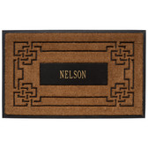 Personalized Sailor's Knot Coir Mat