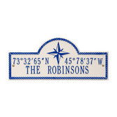 Personalized Coordinates Wall Plaque