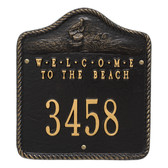 "Personalized ""Welcome To The Beach"" Nautical Address Plaque - One Line"