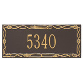 Personalized Sailor's Knot Nautical Address Plaque - One Line