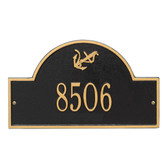 Personalized Anchor Arched Nautical Address Plaque - One Line