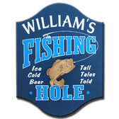 Personalized Fishing Hole Sign