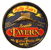"""Personalized Seaside Tavern Quarter Barrel Sign - 21"""""""