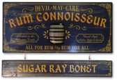 Rum Connoisseur Sign with Optional Personalized Nameplate