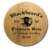 Personalized Blackbeard Barrel Head Sign - 21""
