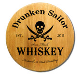 Personalized Skull and Crossed Swords Barrel Head Sign - 21""