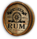 Personalized Rum Compass Quarter Barrel Sign - 19""