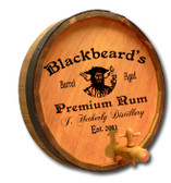 Personalized Blackbeard Quarter Barrel Sign with Spigot - 19""
