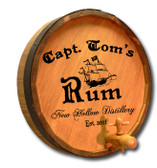 Personalized Capt. Tom's Quarter Barrel Sign with Spigot - 19""