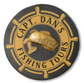 Personalized Fishing Tours Sign - 12""