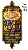 Personalized Fish Market Sign with Relief - 28""