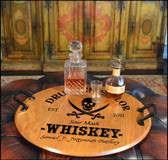 Personalized Pirate Barrel Head Serving Tray - 21""