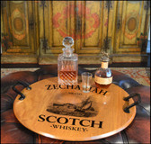 Personalized Scotch Barrel Head Serving Tray - 21""