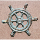 Ship Wheel Cabinet Knobs - Cast Iron