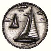 Nautical Cabinet Knobs - Sailboats in Round - Minimum 3