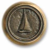 Nautical Cabinet Knobs - Small Sailboat Round - Minimum 3