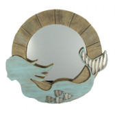 Mermaid Mirror - Wooden -  24""