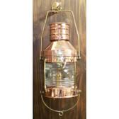 "Copper  Anchor Lantern 14"" -  Electric"