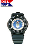 Del Mar Men's 200M Military Sport Dive Watch with Black Case and PU Band - U. S. Air Force