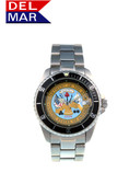 Del Mar Men's 200M Stainless Steel Military Sport Dive Watch - U. S. Army