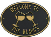 Personalized Wine Glass Bar Plaque