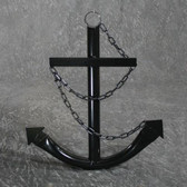 Classic Navy Anchor with Chain - Black