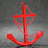 Classic Navy Anchor with Chain - Red