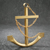 Classic Navy Anchor with Chain - Gold