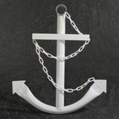 Classic Navy Anchor with Chain - White