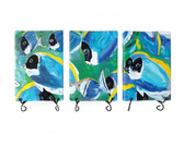 Powder Blue Tangent Triptych - Giclee Print