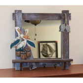 Pelican Mirror - Wood Framed