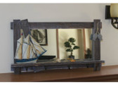 Sailboat Mirror - Wood Framed
