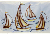 Sailboats on Waves - Metal Wall Sculpture