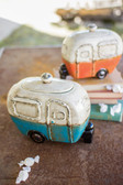 Ceramic Beach Camper Canisters - Set of 2
