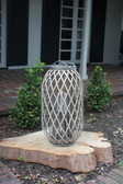 Grey Willow Lantern with Glass - 2 sizes available