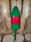 "Wooden Lobster Buoy 21"" - Green Red Band"