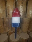 "Wooden Lobster Buoy 21"" - Red White Blue"