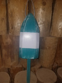 "Wooden Lobster Buoy 21"" - Teal White Band"